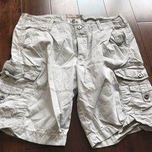Light gray men's cargo shorts